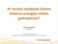 Ar verslas naudojasi laisvos elektros energijos rinkos galimybėmis?