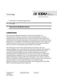 Tischvorlage Zukunft des ländlichen Raums - CDU Baden ...