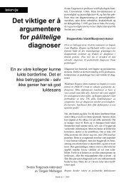 Det viktige er å argumentere for pålitelige diagnoser