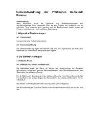 Gemeindeordnung der Politischen Gemeinde Knonau
