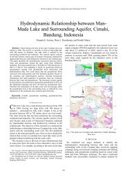 Hydrodynamic Relationship between Man- Made Lake and ... - ITB