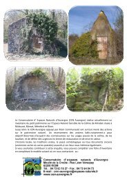 (CEN Auvergne) réalise actuellement un inventaire du petit patri