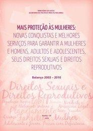 Mais proteção às mulheres - BVS Ministério da Saúde