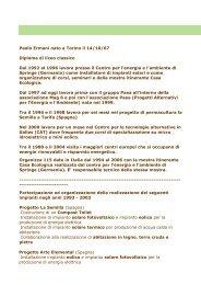 Paolo Ermani nato a Torino il 14/10/67 - Comune di Pianoro