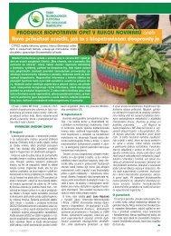 Produkce biopotravin opět v rukou novinářů - tisková zpráva ČTPEZ