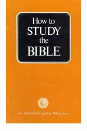 How To Study The Bible PDF - Church of God Faithful Flock