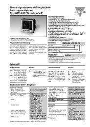 Netzanalysatoren und Energiezähler Leistungsanalysator Typ ...