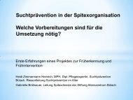 Suchtprävention in der Spitexorganisation Welche ... - Über Fosumos