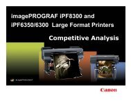 imagePROGRAF iPF8300 and iPF6350/6300 Large Format ... - CAES