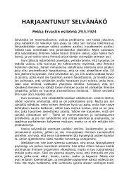 1924 05 29 Harjaantunut selvänäkö - Pekka Ervast