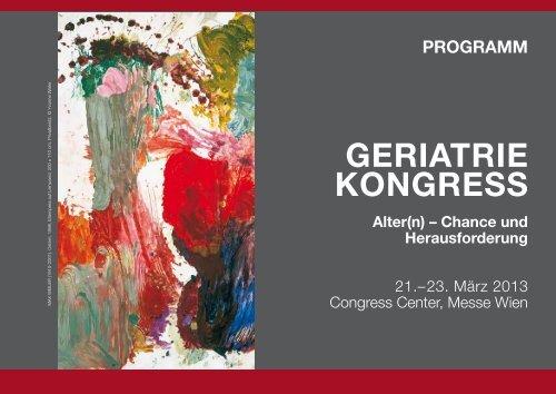 Programm (PDF) - Österreichische Gesellschaft für Geriatrie und ...