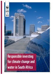 Responsible investing for climate change and water in ... - WWF UK