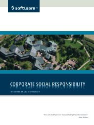 CORPORATE SOCIAL RESPONSIBILITY - Software AG