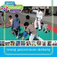 Brochure Sport en Bewegen in de Buurt