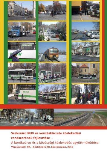 A kerékpáros és a közösségi közlekedés együttműködése - Szekszárd