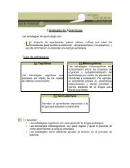 Estrategias de Aprendizaje Tipos de estrategias
