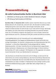 Ab sofort turboschnelles Surfen in Buchholz/ Aller - Dsl-Initiative für ...