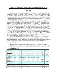 hodnoceni lekarskych fakult 2005 - Akreditační komise