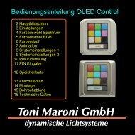 Bedienungsanleitung OLED Control - Toni Maroni GmbH