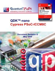 QDK-nano PSoC-ICCM8C - Quantum Leaps