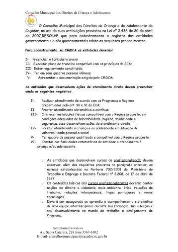 Conselho Municipal dos Direitos da criança e do ... - AMAVI