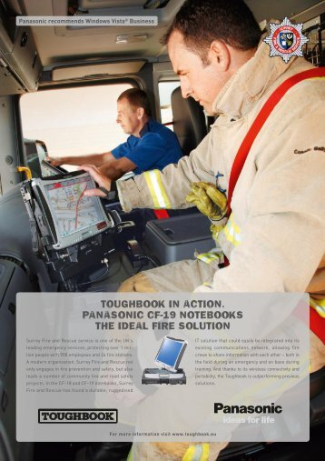 Toughbook in AcTion. PAnAsonic cF-19 noTebooks The ideAl Fire ...