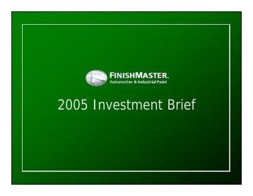 2005 Investment Brief