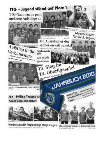 Löwenreport Jahrbuch 2010/2011 - TTG Niederkassel