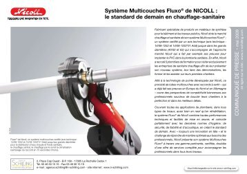 Système Multicouches Fluxo® de NICOLL : le standard de demain ...