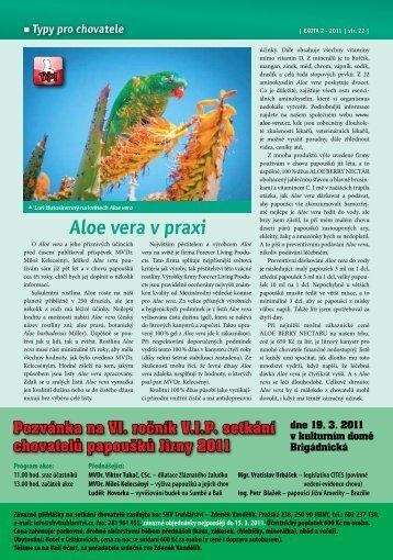 Aloe vera v praxi - Aloe-vera.cz