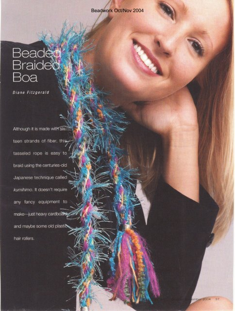 Beadwork Oct/Nov 2004 - Diane Fitzgerald