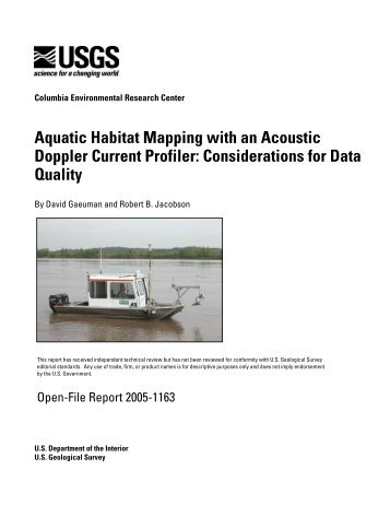 Aquatic Habitat Mapping with an Acoustic Doppler Current Profiler ...