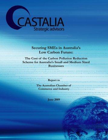 Securing SMEs in Australia's Low Carbon Future: - Castalia