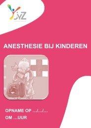 ANESTHESIE BIJ KINDEREN - Jan Yperman Ziekenhuis
