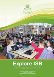 Explore ISB, Issue #2 - SY 2010/2011 - the International School of ...