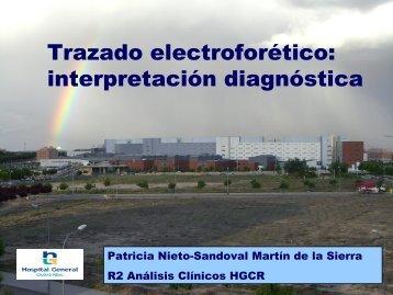Trazado electroforético - hgucr