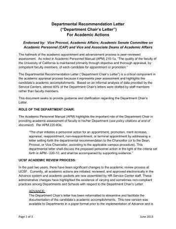 FORM B Departmental Recommendation Letter Request