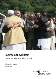 Jammu and Kashmir: Trade across the Line of Control - Centre for ...