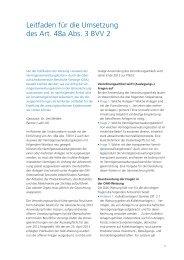 Leitfaden für die Umsetzung des Art. 48a Abs. 3 BVV 2 - c-alm