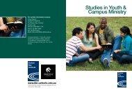 Studies in Youth & Campus Ministry - Broken Bay Institute