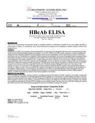 Elisa Inserts - Diagnostic Kit
