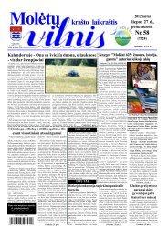 2012 m. liepos 27 d., penktadienis Nr.58 - 2013 - VILNIS