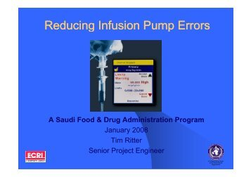 Reducing Infusion Pump Errors
