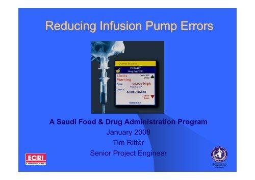 Reducing Infusion Pump Errors