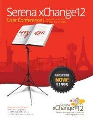 xChange12 brochure - Serena Software