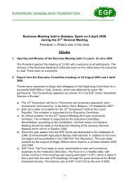 Minutes of the EGF Business Meeting 2006 - European Grassland ...