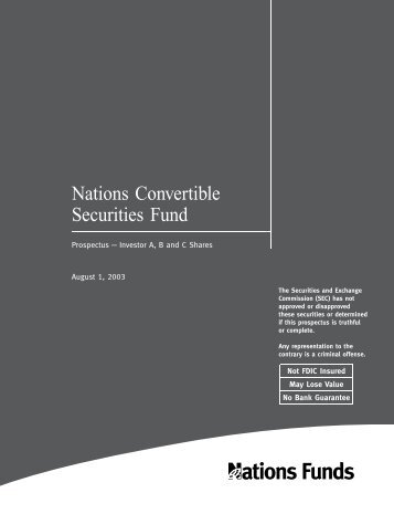 Nations Convertible Securities Fund