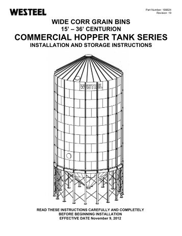 198824 Commercial Hopper INSTALLATION ... - Westeel