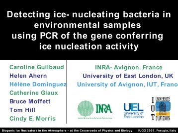 Detecting ice-nucleating bacteria in environmental samples usi