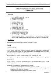 CONGE POUR CAUSE DE MALADIE OU D'INFIRMITE - Temporaire -